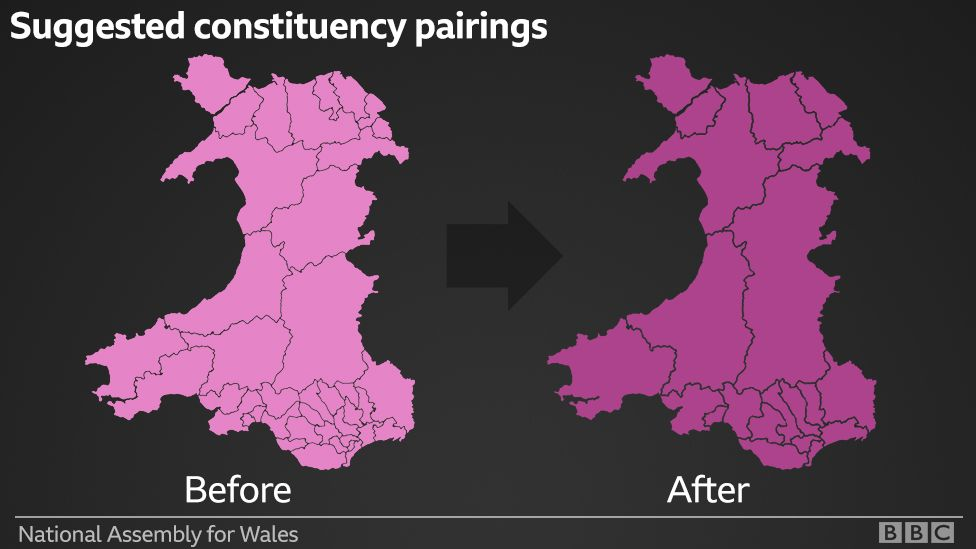 Map of proposed paired constituencies