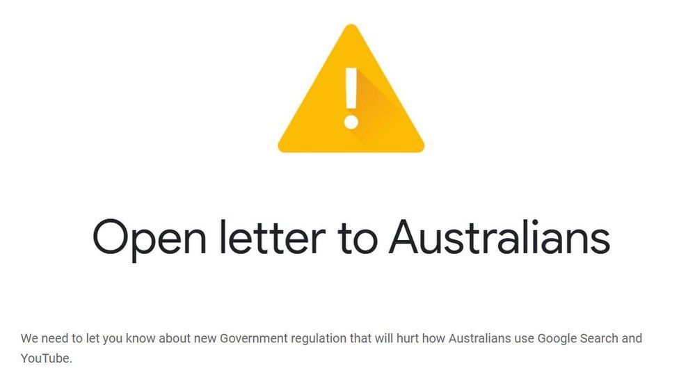 , Google threatens to withdraw search engine from Australia, Indian & World Live Breaking News Coverage And Updates