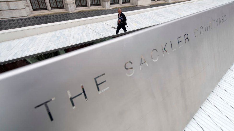 The V&A in London is a recipient of millions of dollars from the Sackler family