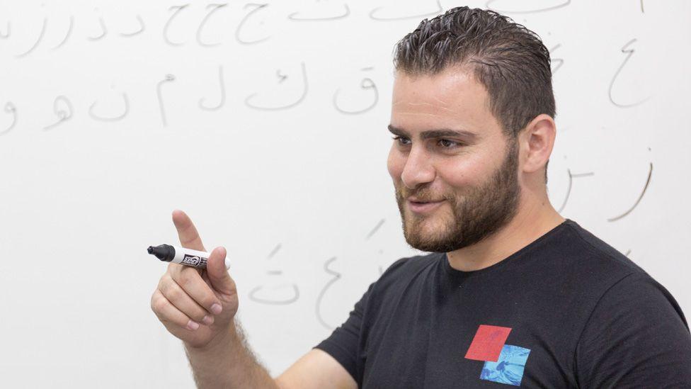 Ali Jeratli teaching Arabic