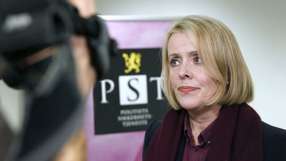 Head of the Norwegian domestic intelligence service PST, Marie Benedicte Bjornland, addresses the media in Oslo on 13 December 2014