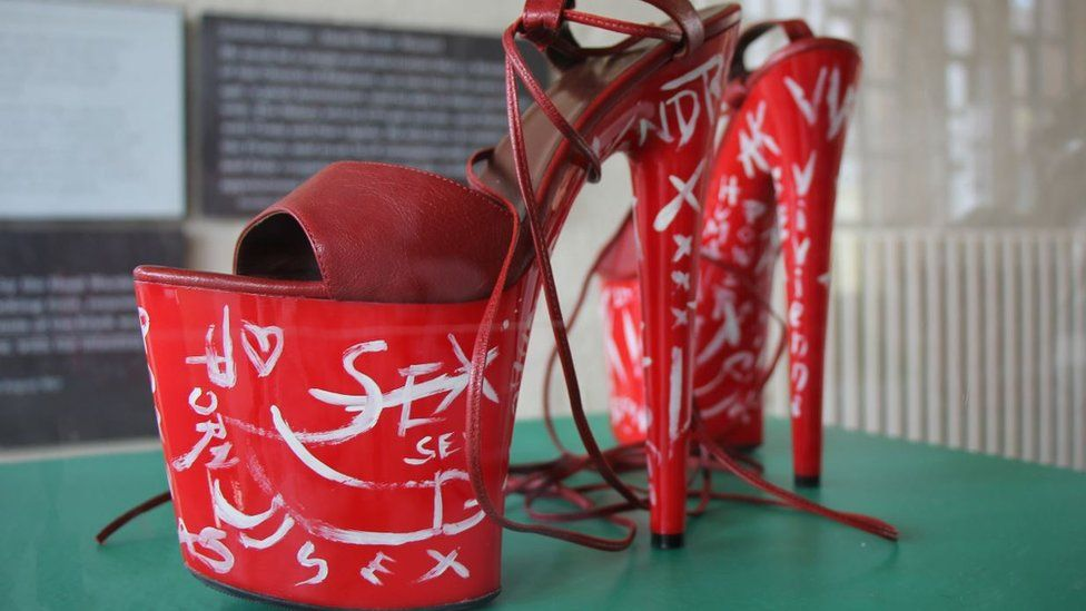 Red shoes by Vivienne Westwood
