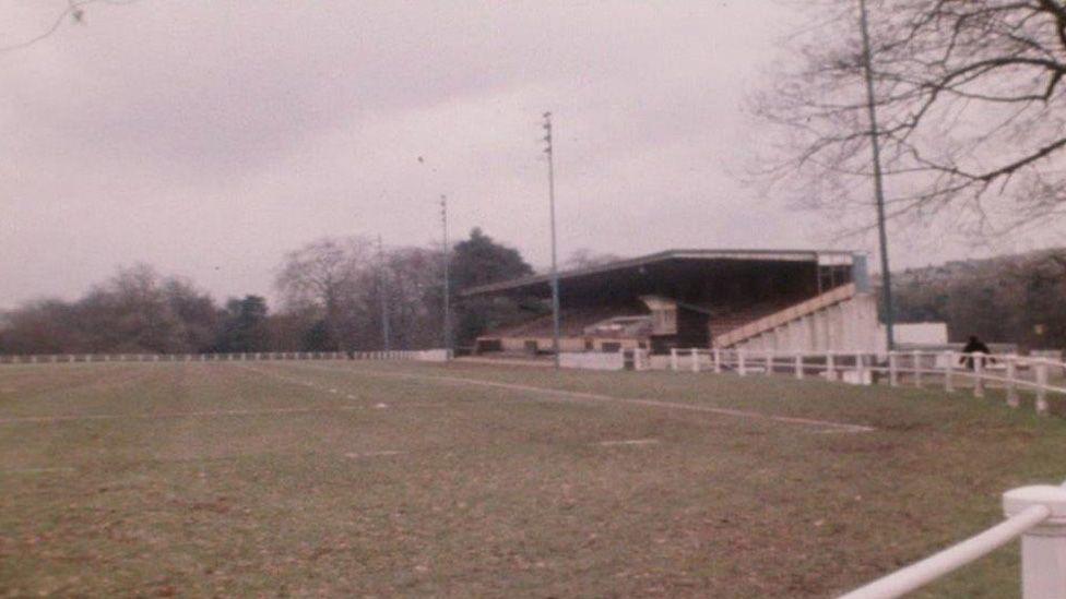 An empty Pontypool Park in the 1970s