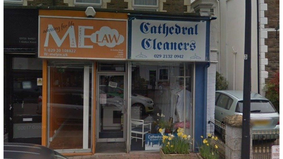 A dry cleaners in Station Road where The Radyr Tap will open