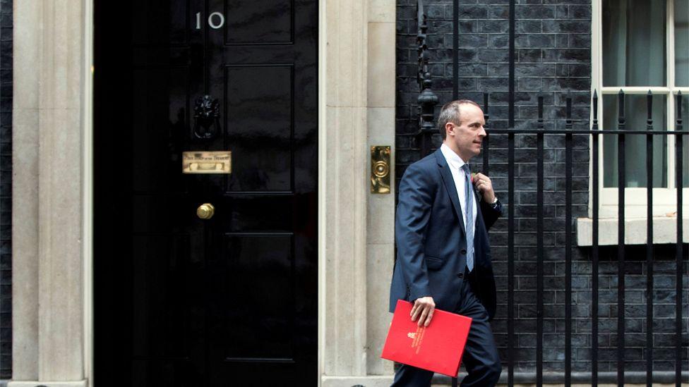 Dominic Raab outside 10 Downing Street in November 2018