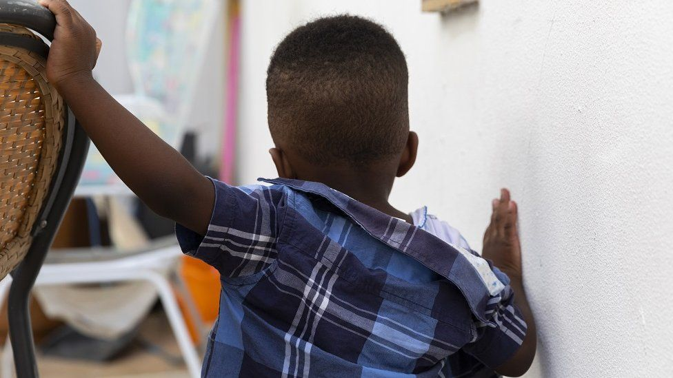 Back of a young child's head