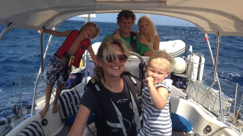 Craven family on boat