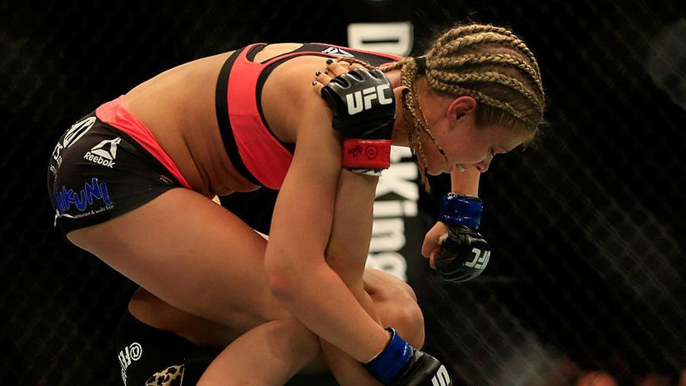 Paige Vanzant in action at the UFC Fight Night