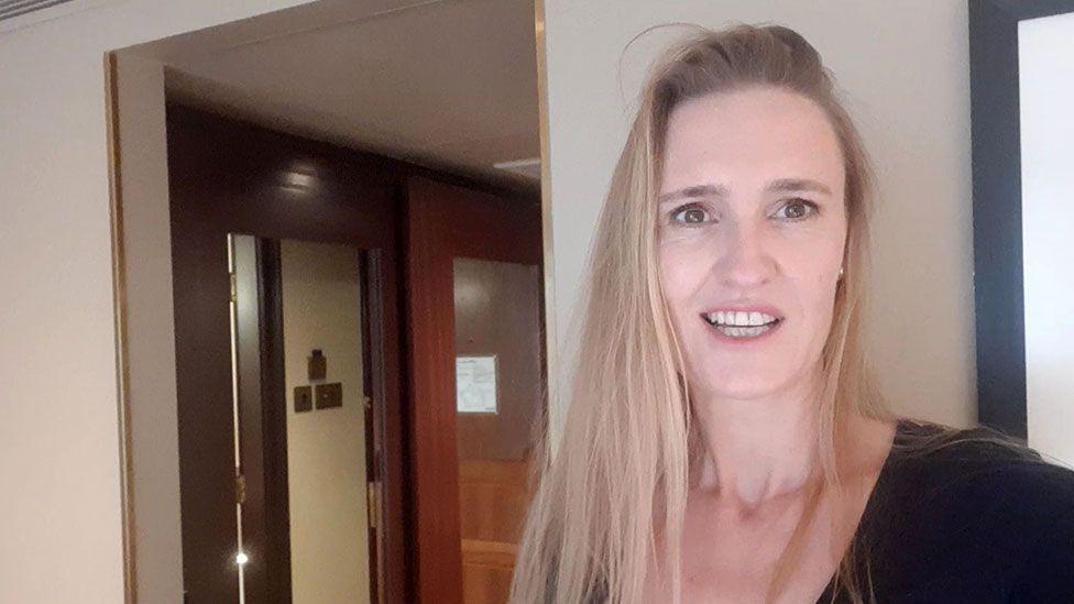 Samantha Brooke-Smith in quarantine