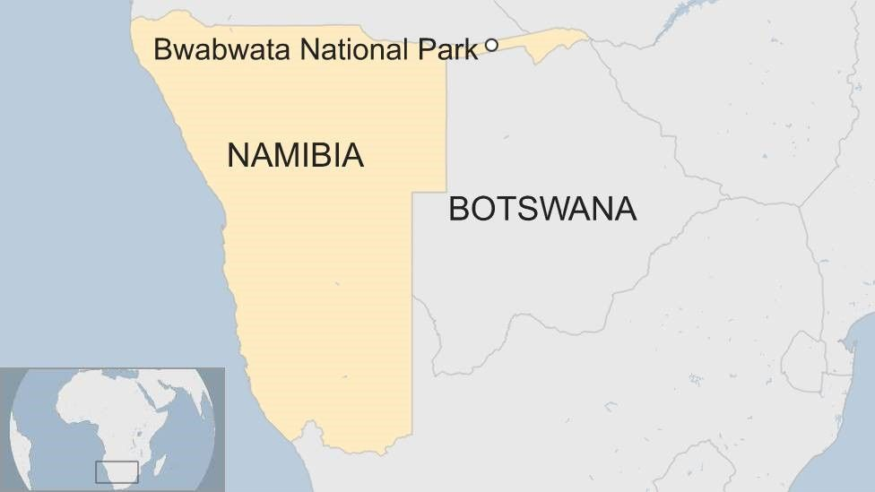 A map of Namibia