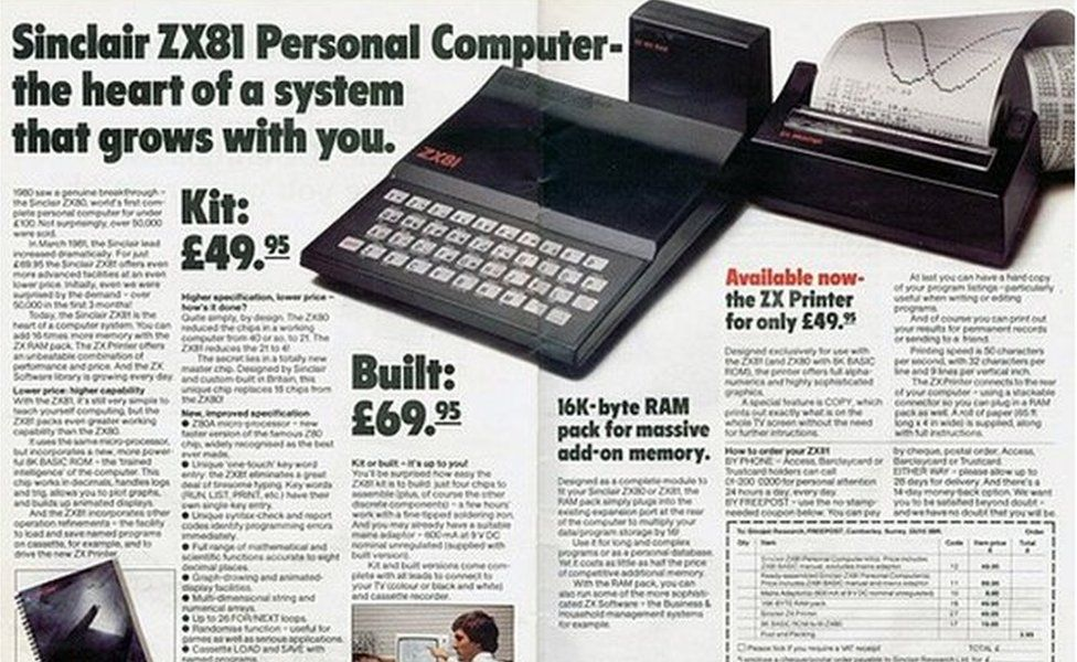 Advert for ZX81