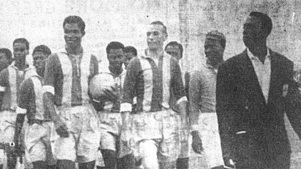 Mathews and Ghanain players
