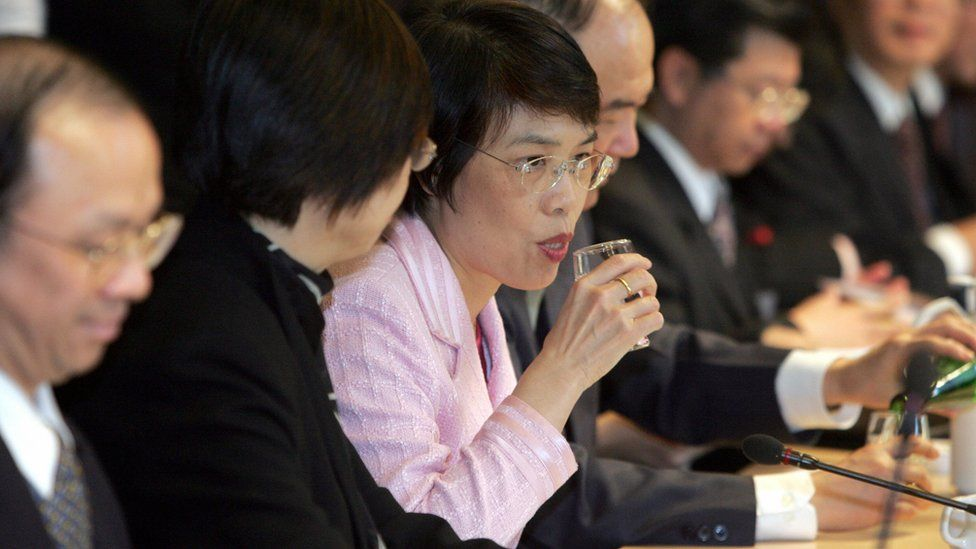 Photo of former Taiwanese Economy Minister Ho Mei-yueh
