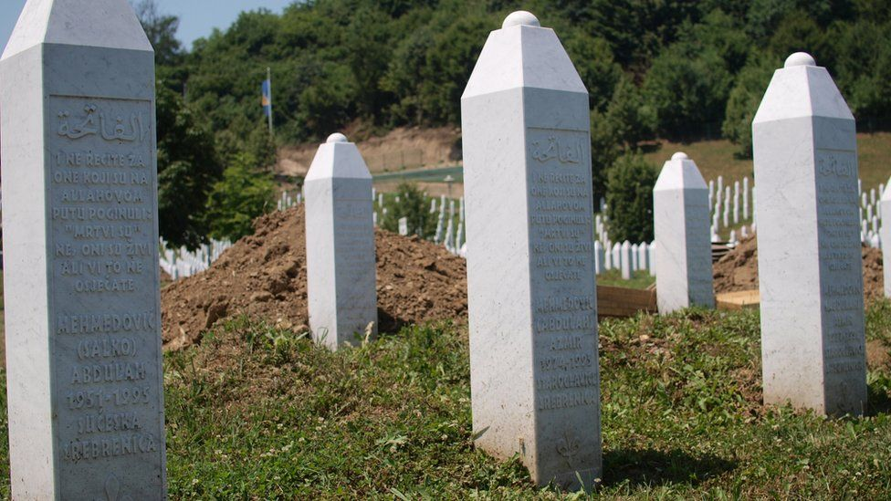 Graves of Hatidza Mehmedovic's husband and two sons