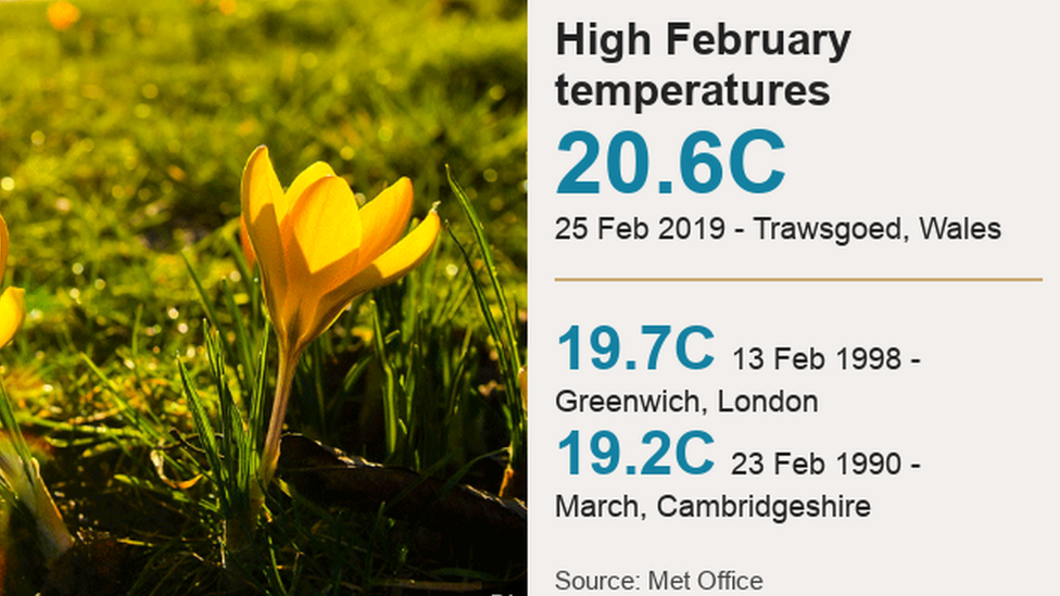 High temperatures in the UK