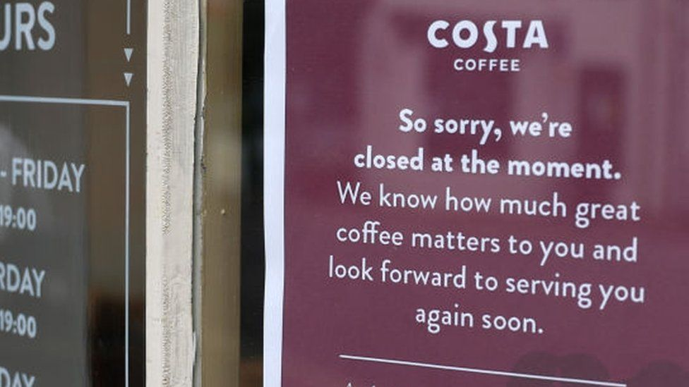 A closed branch of coffee chain Costa
