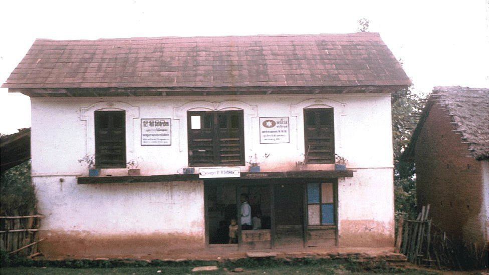 The first TB clinic in the hills of Nepal, in Dhankuta, established in 1970
