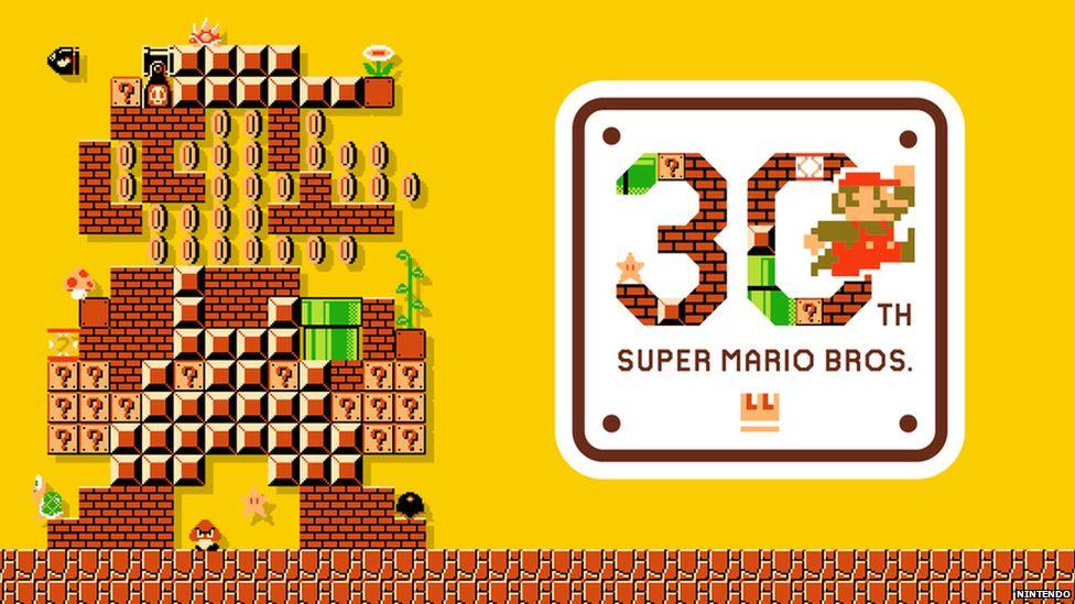 Mario 30th anniversary logo