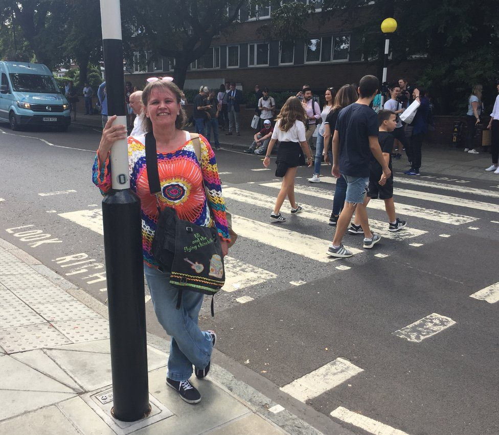 Daniela Geber on Abbey Road.