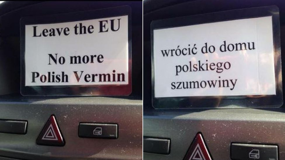 Anti-Polish notes from Huntingdon