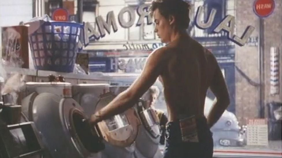 """Nick Kamen stars in the famous Levi's 501 """"launderette"""" advert from 1985"""