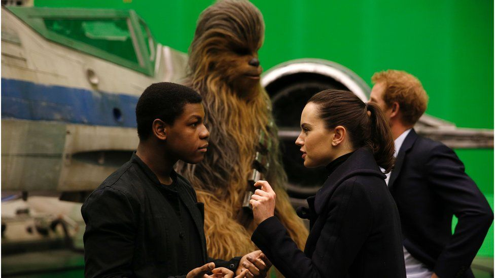 Star Wars cast and Prince Harry at Pinewood Studios