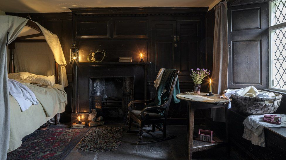 A bedroom at the restored Dove Cottage