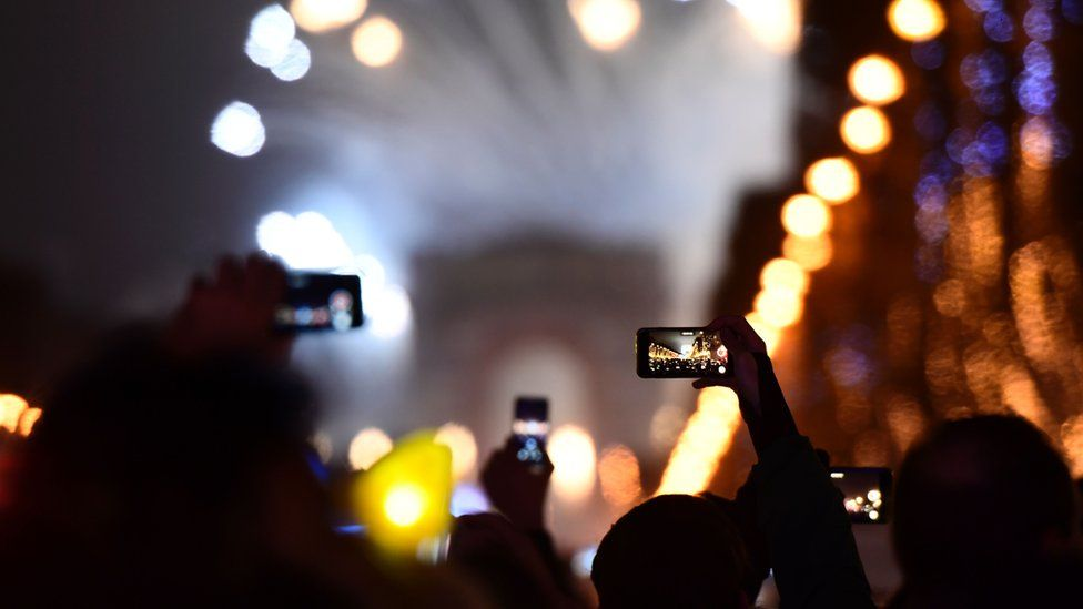 Smartphones on New Year's Eve