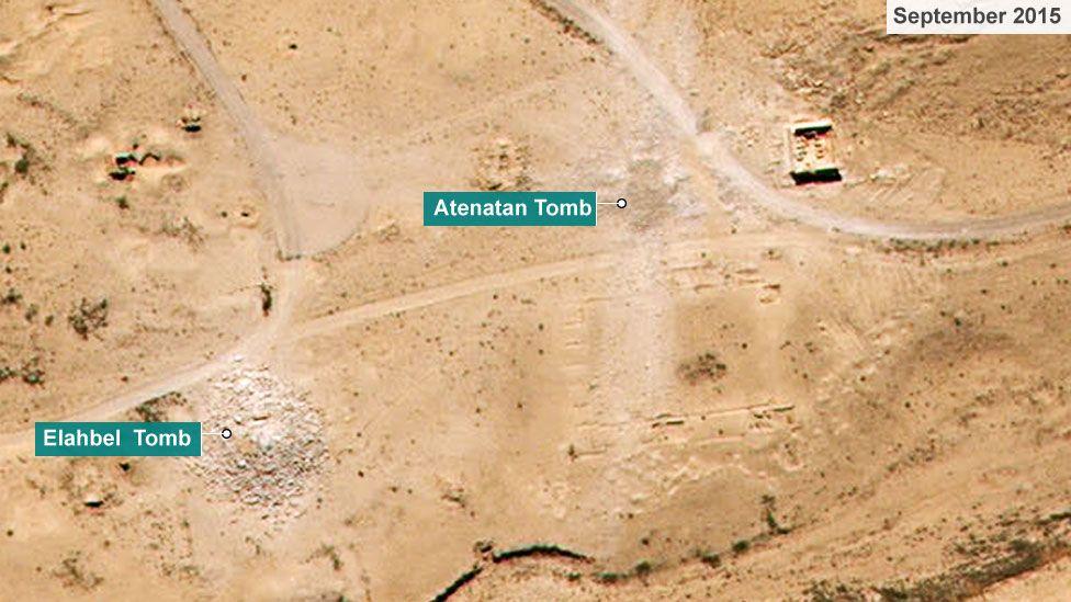 Tombs of Elahbel and Atenatan in September 2015