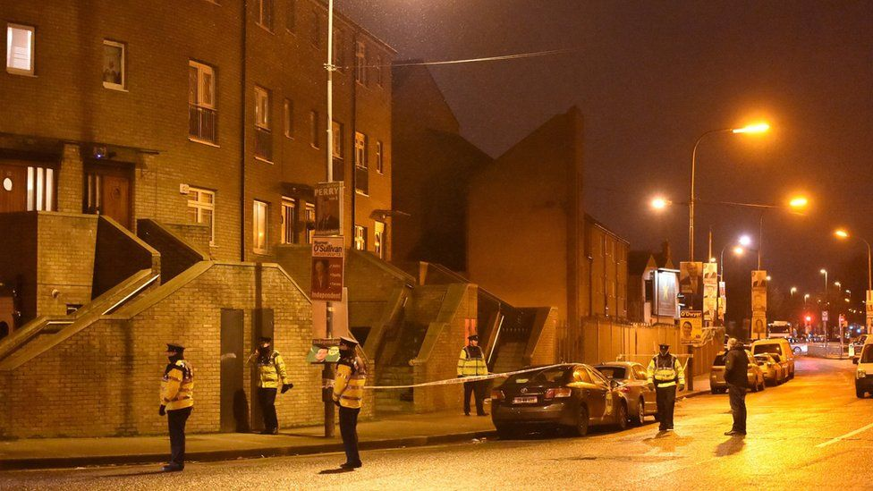 Eddie Hutch, who was in his 50s, was killed at his apartment in the north inner city