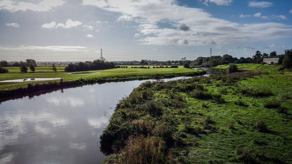 River Tam at Hopwas in Staffordshire