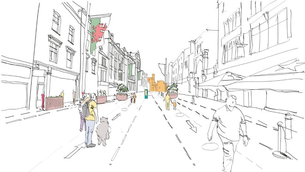 An artists impression of Cardiff plans