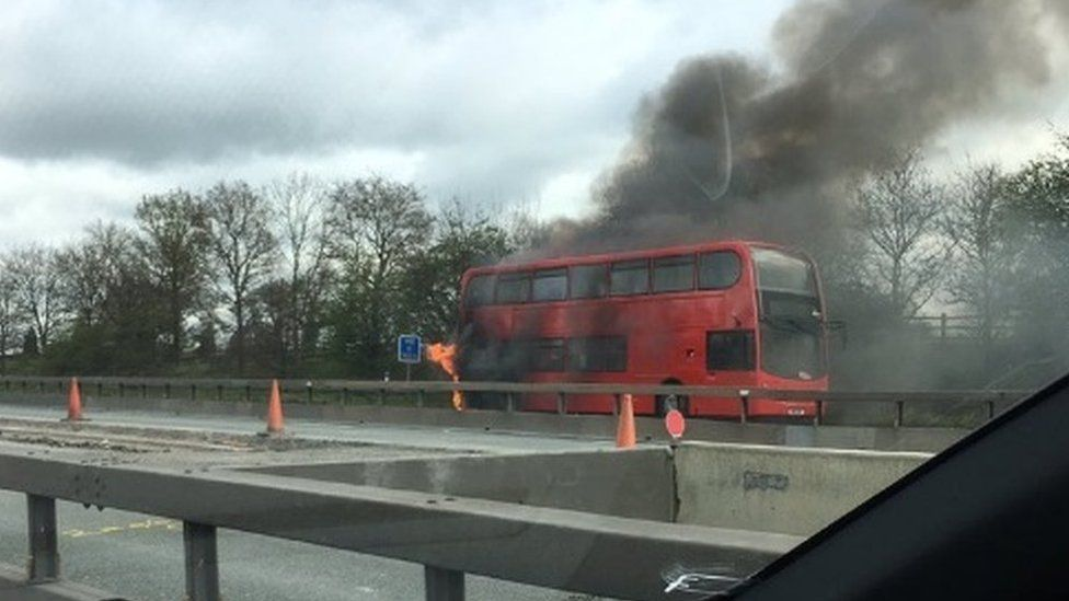Bus after the fire