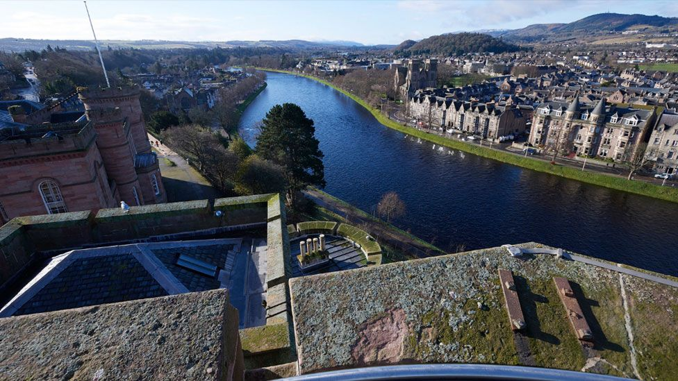 View from Inverness Castle's North Tower