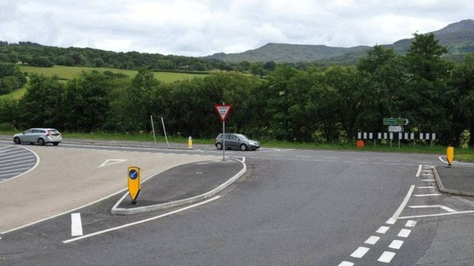 A494 junction with A470