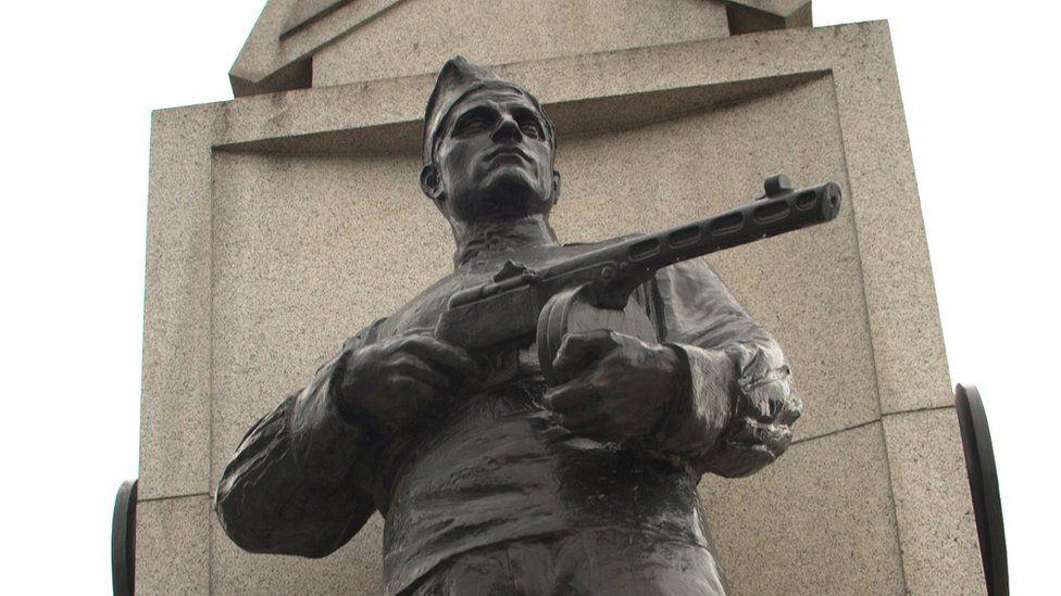 The Soviet military memorial in Prague