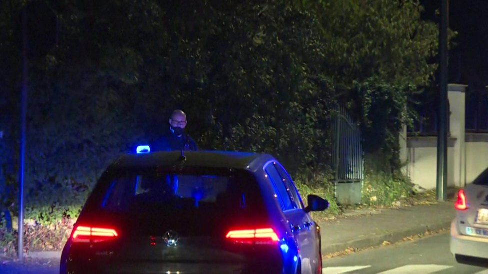 Police at the scene Conflans-Sainte-Honorine