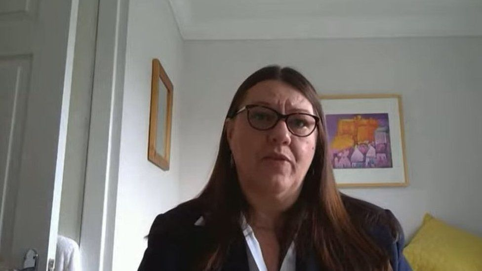 June Roby appeared via videolink