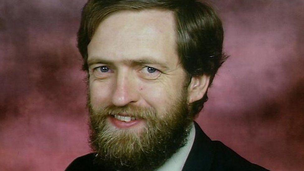 Jeremy Corbyn in 1987