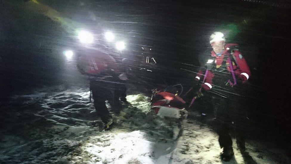 Arrochar Mountain Rescue Team during Saturday's callout