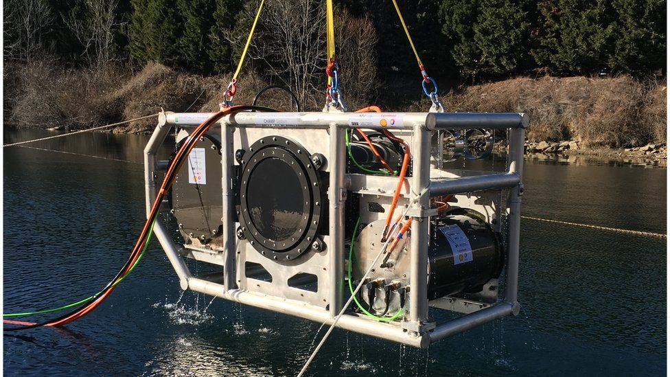 Shell, Total and ExxonMobil have spent years developing a marine vibroseis device.