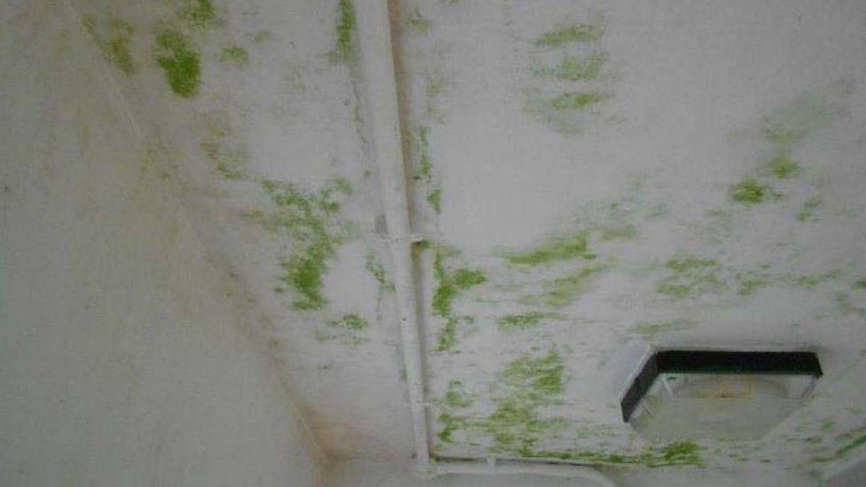 Shower roof at HMP Onley