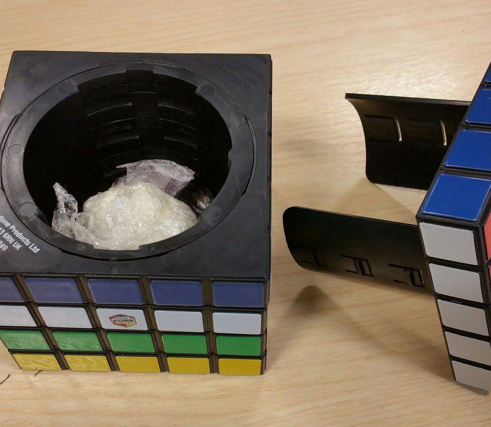 Drugs inside Rubik's cube