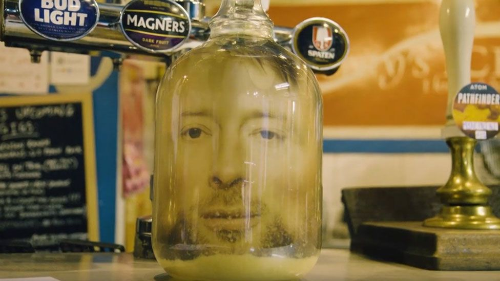 Thom Yorke pickled at the bar of The New Adelphi Club in Hull, where a young Radiohead once played