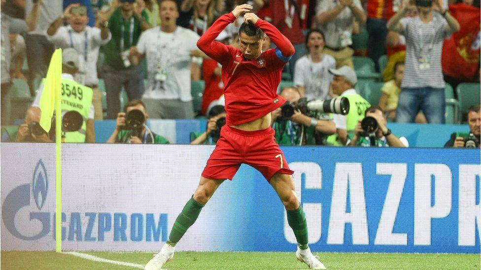 ronaldo celebrates goal