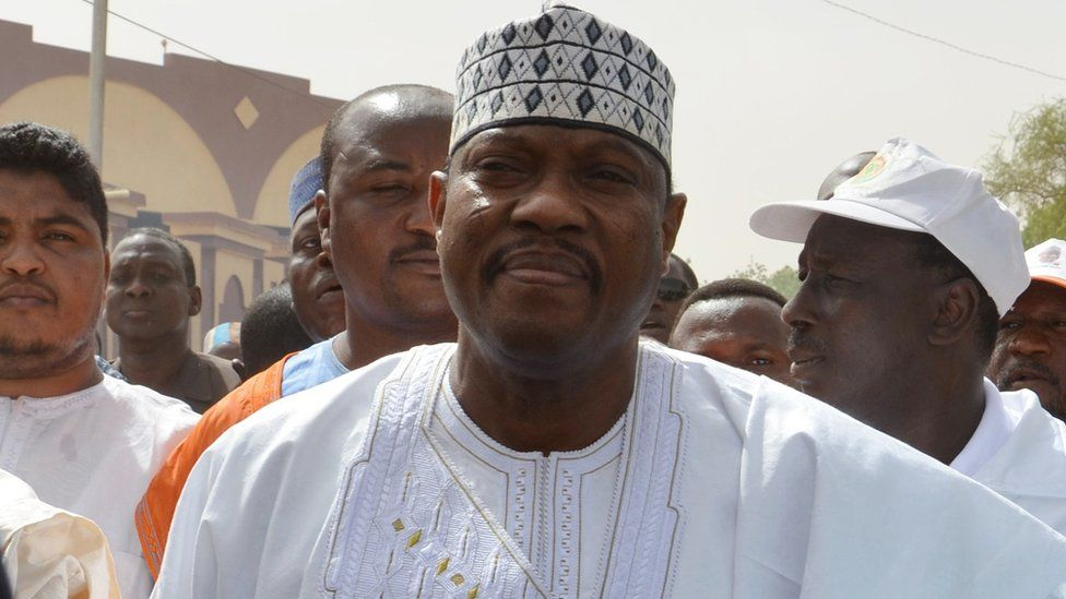 Niger's opposition leader Hama Amadou