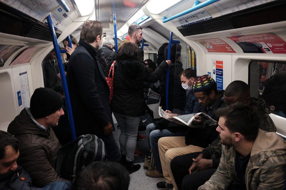 Busy Underground train