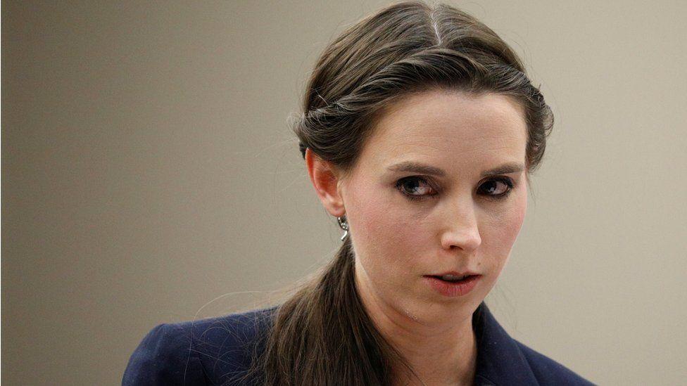Rachael Denhollander speaks at the sentencing hearing for Larry Nassar - 24 January 2018
