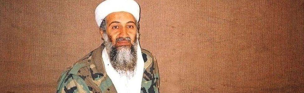 Osama Bin Laden near Kabul in 2001