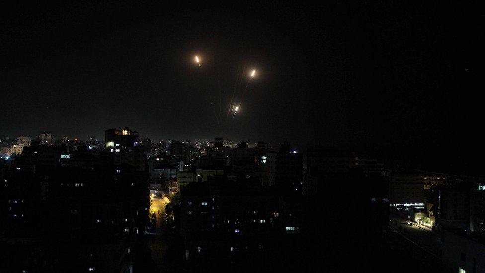 Rockets fired towards Israel